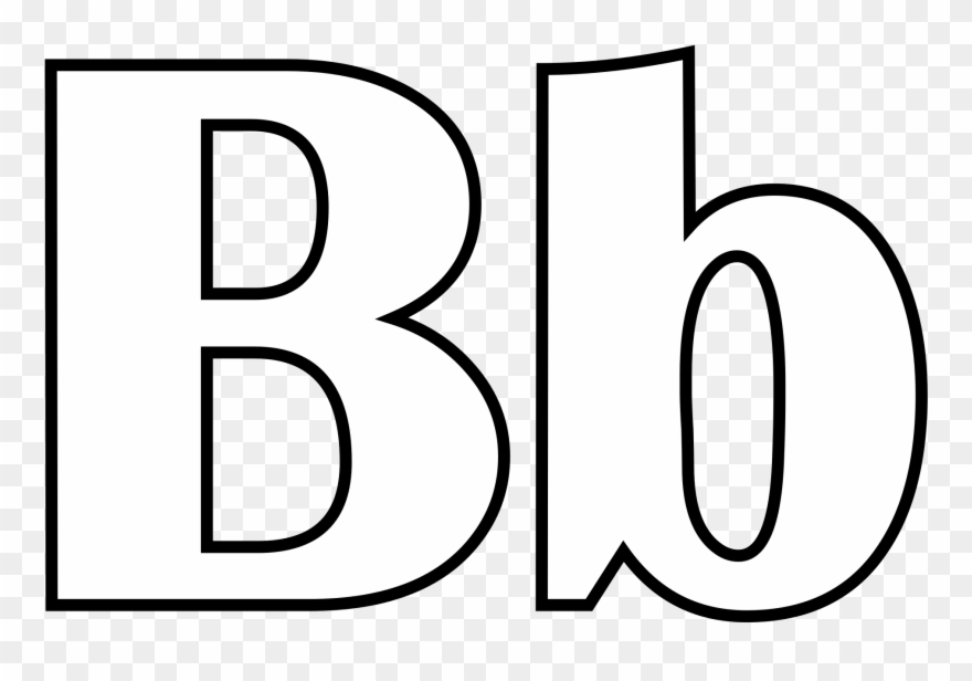 B clipart for coloring picture library stock Letter B Coloring Activities With 2000px Classic Alphabet Clipart ... picture library stock