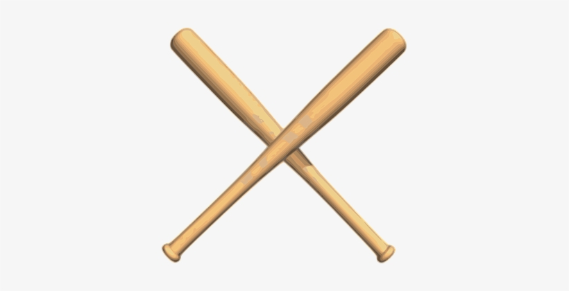 B is bat clipart clip freeuse library Baseball Bats Crossed Wood Play Baseball B - Free Baseball Bat ... clip freeuse library