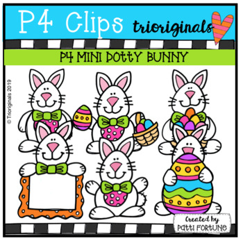 B & w clipart just a note picture library download P4 MINI Dotty Bunny (P4 Clips Trioriginals) EASTER CLIPART picture library download