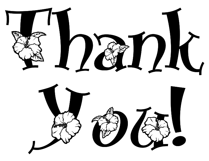 B & w clipart just a note jpg transparent stock Thank You Clipart | Free download best Thank You Clipart on ... jpg transparent stock