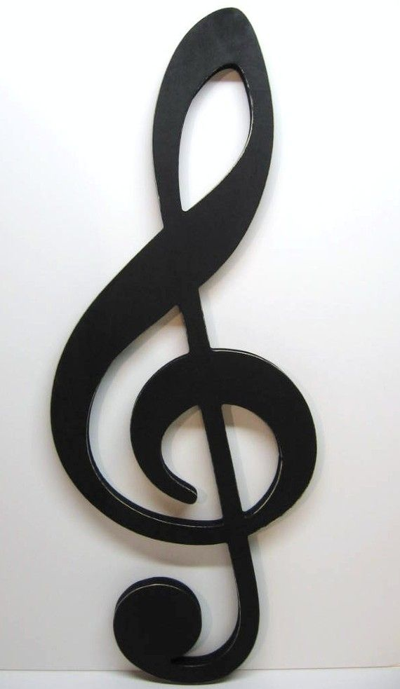 B & w clipart of the statement just a note jpg library library Large TREBLE CLEF Sign - Big Bold Graphic Statement - Musical Note ... jpg library library