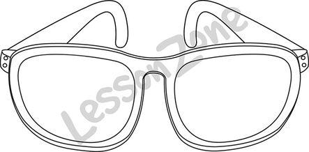 B & w sunglasses clipart clip free Sunglasses B&W clip free