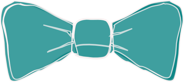 B & wbow tie clipart vector library library Bow Tie Teal2 Clip Art at Clker.com - vector clip art online ... vector library library