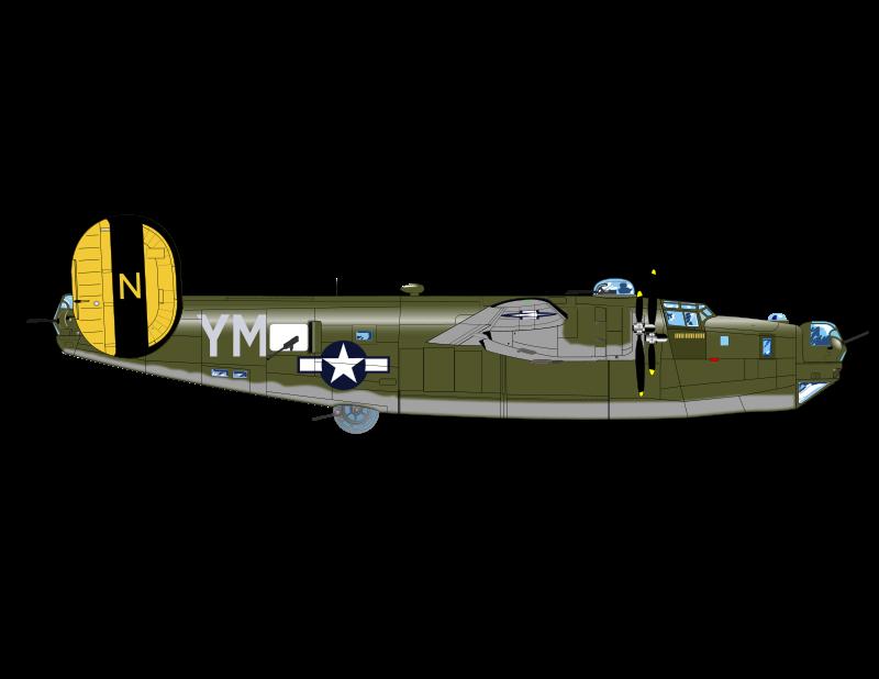 B-24 clipart clip free Free Clipart: B-24 J BOMBER | charner1963 clip free