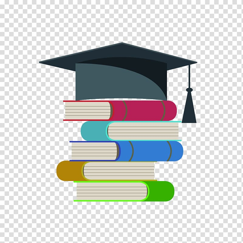 Bachelor degree clipart image black and white download Bachelors degree Hat Graphic design, Books on the Bachelor cap ... image black and white download