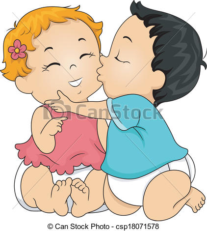 Babies with kisses clipart graphic library library Kiss Baby Clipart graphic library library