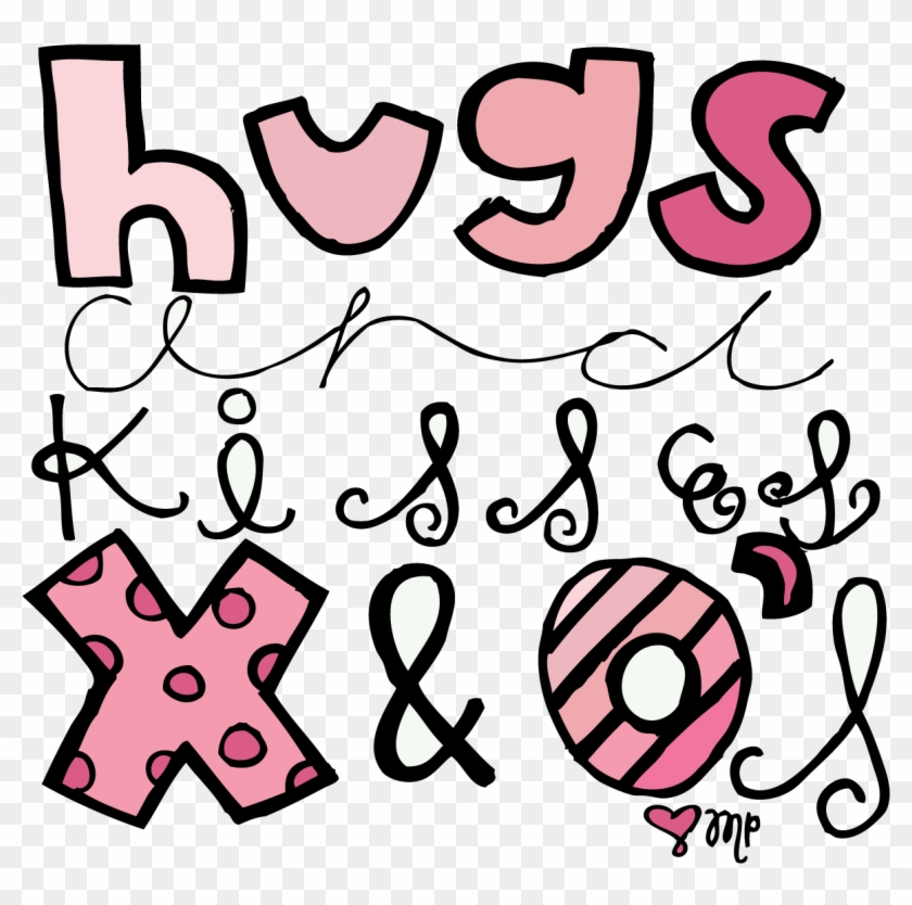 Babies with kisses clipart vector black and white Hugs And Kisses Clip Art - Hugs And Kisses Baby, HD Png Download ... vector black and white