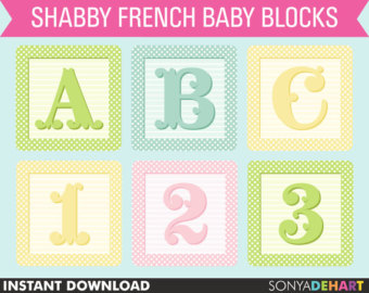 Baby blocks clipart | Etsy jpg freeuse library