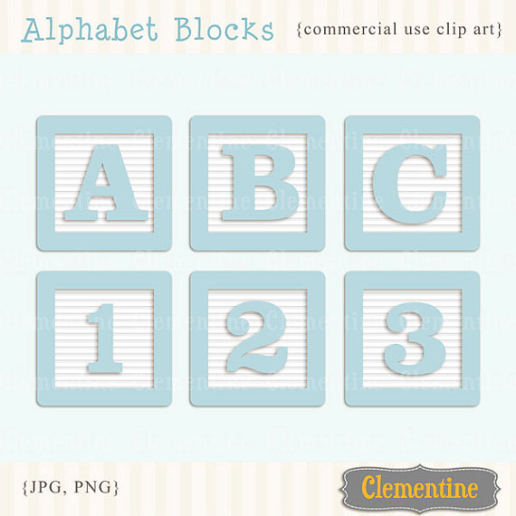Baby alphabet blocks clipart. Clip art images royalty