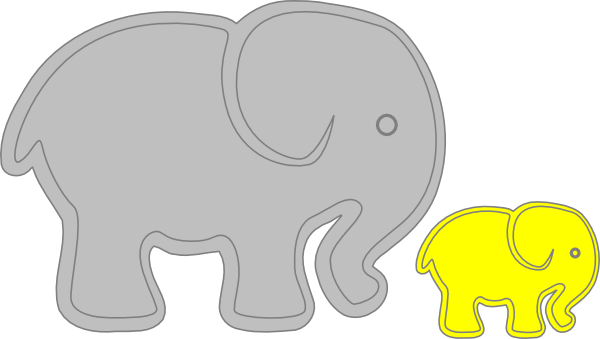 Baby and adult animal clipart jpg stock Adult Elephant With Baby Elephant PNG, SVG Clip art for Web ... jpg stock
