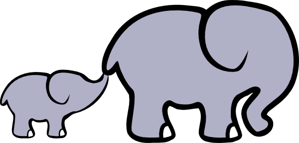 Baby and adult animal clipart image library Baby Elephant And Adult Elephant clip art - vector clip art online ... image library