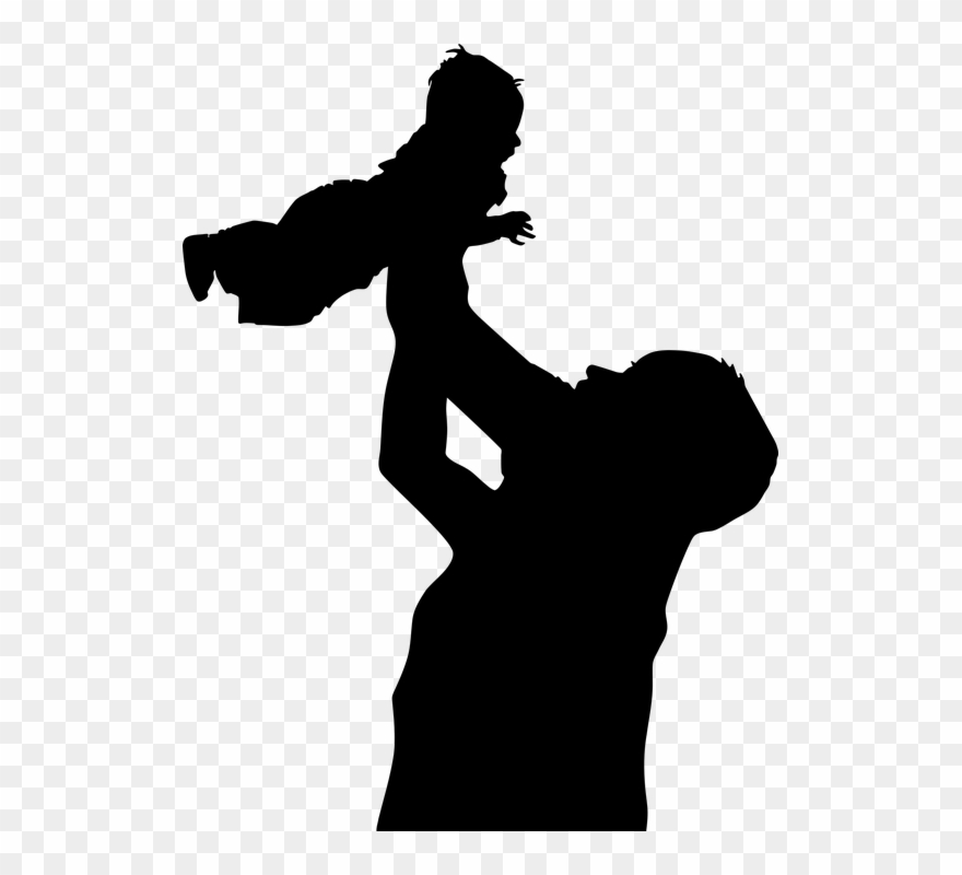 Father and child clipart black and white jpg free stock Family Father Son Baby Boy Child Dad Fathers Day Clipart (#2854594 ... jpg free stock