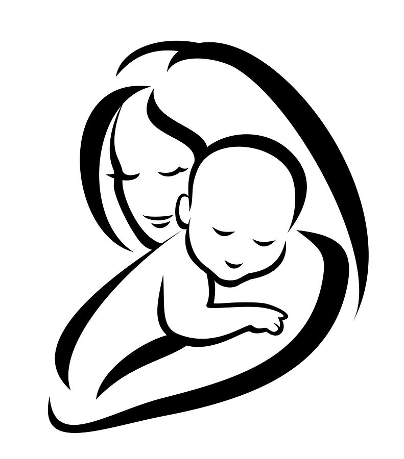 Mother with children clipart jpg library library Mother And Child Art Images - Cliparts.co | tattoos | Baby ... jpg library library