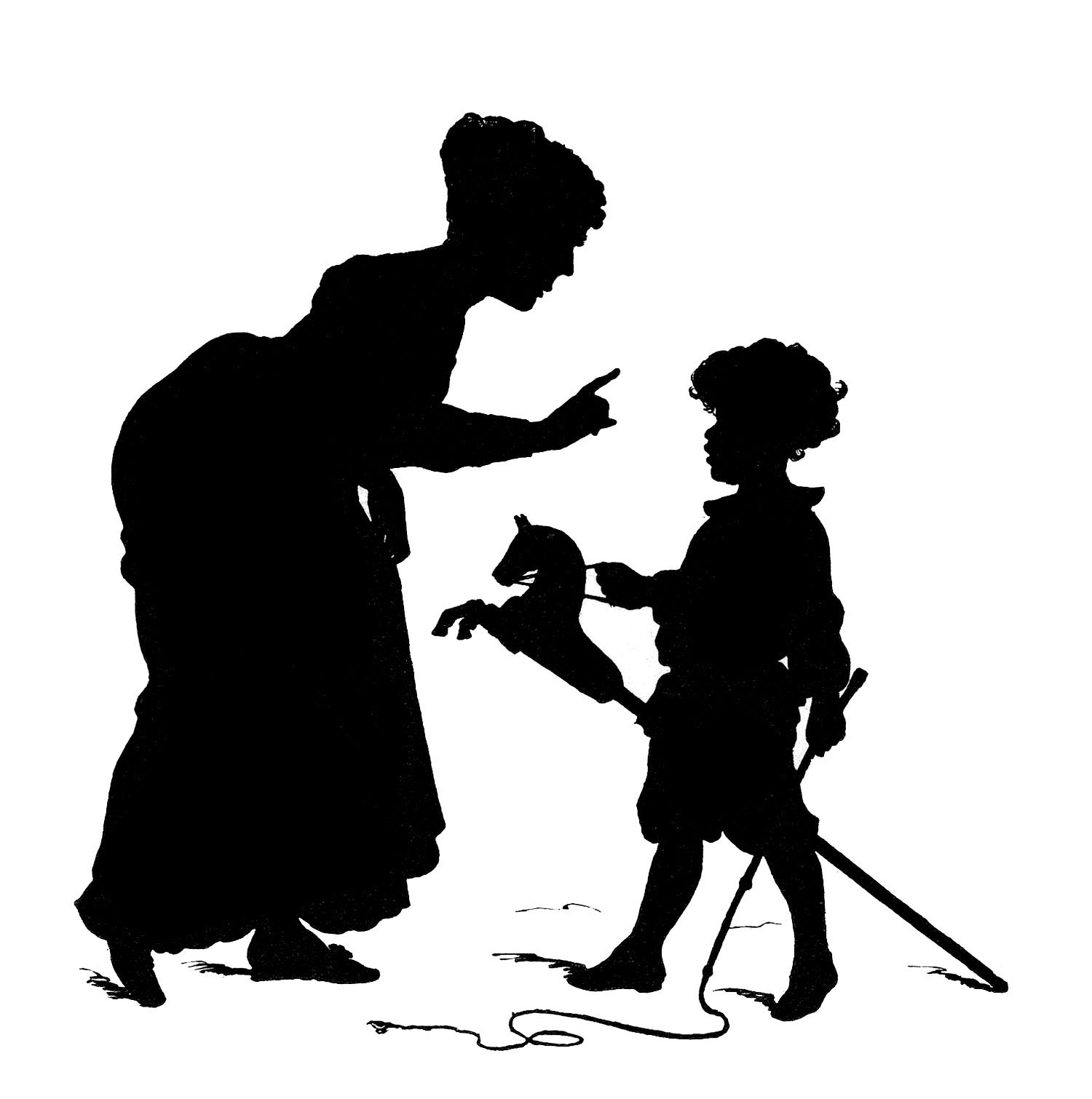 Baby and mother silhouette clipart black and white vector royalty free stock 9 Mother and Child Illustrations! - The Graphics Fairy vector royalty free stock