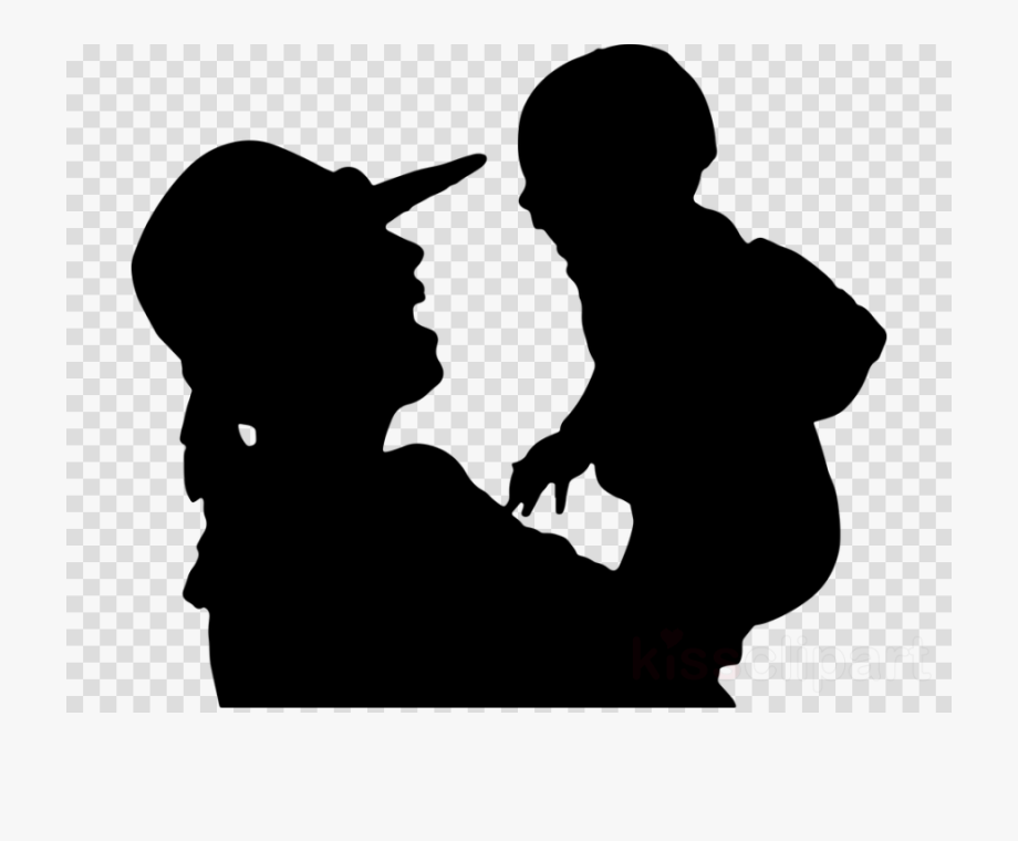 Baby and mother silhouette clipart black and white picture freeuse Mother Baby Clipart Picture - Black Heart Transparent Background ... picture freeuse