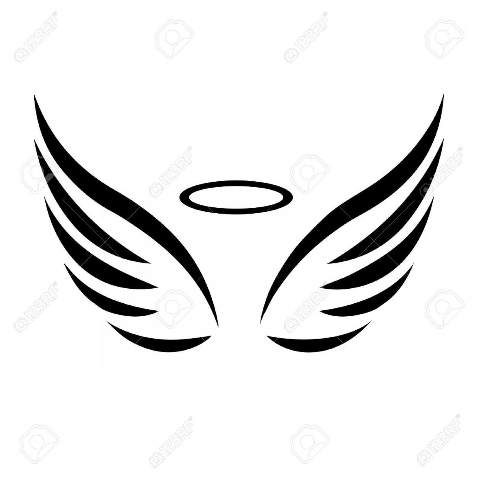 Baby angel wings clipart black and white image royalty free stock Boy Angel Wings Clipart Black And White | SOIDERGI image royalty free stock