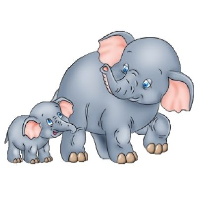 Cute Baby and Momma Elephant Clip Art | Mother And Baby Elephant's ... graphic library