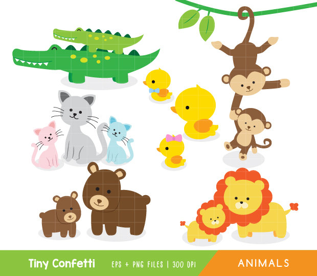 Baby animal and mama clipart - ClipartFest svg download