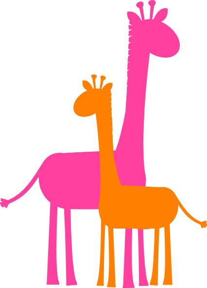 giraffe caricature | Mother And Baby Giraffe Sillouette clip art ... transparent download