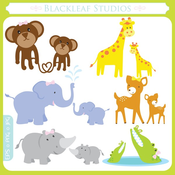 Baby animal and mama clipart - ClipartFest clip art free download