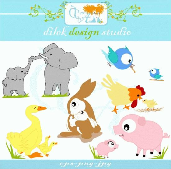 Mama baby animal clipart - ClipartFest svg black and white library