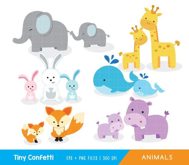 Baby animal and mama clipart - ClipartFest clipart library library