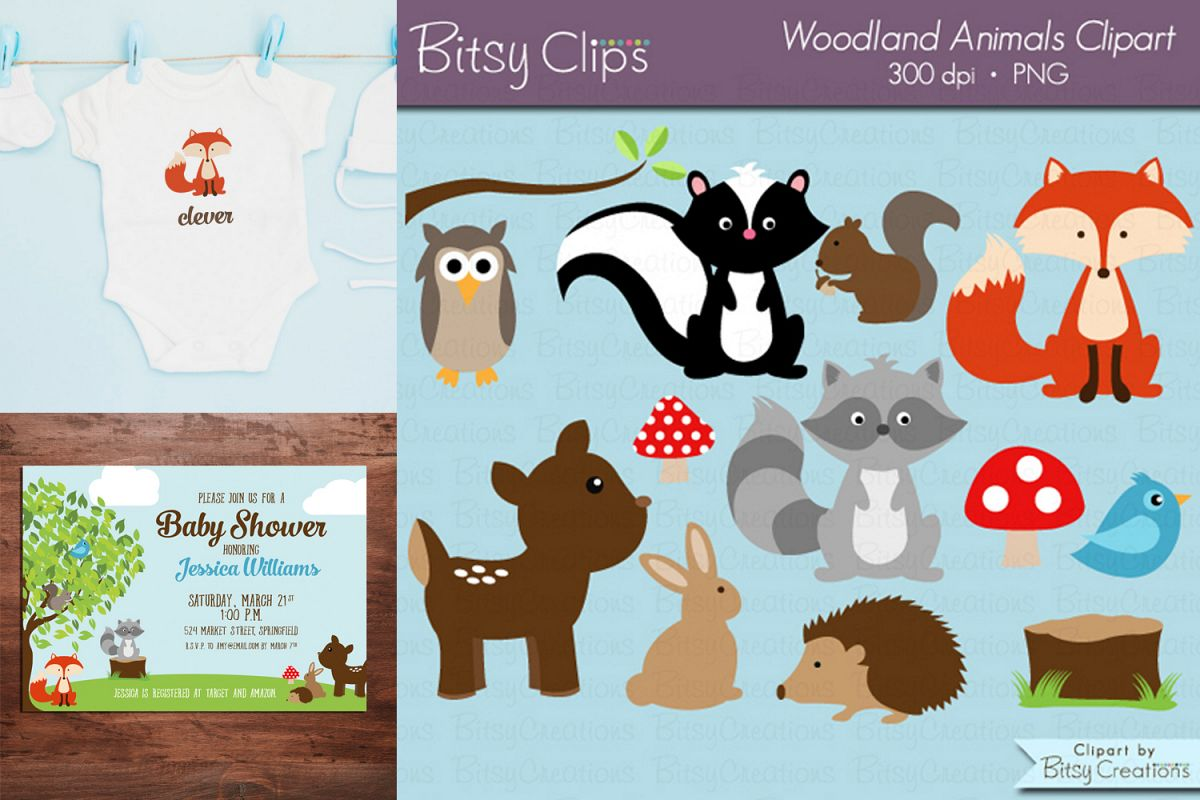 Clipart images for commercial use png download Woodland Animals Digital Art Set Clipart Commercial Use png download