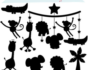 Baby animal silhouette clipart svg library download Free Baby Animal Silhouette, Download Free Clip Art, Free Clip Art ... svg library download