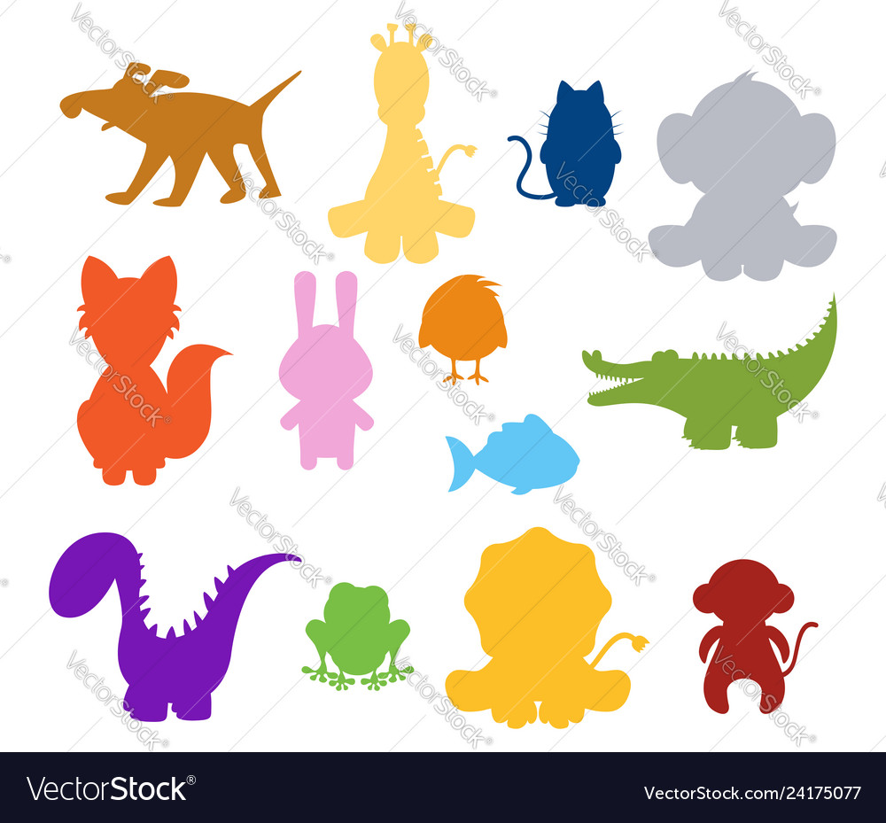 Baby animal silhouette clipart clip library Baby silhouette animals clip library