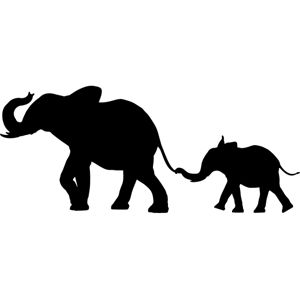 Baby animal silhouette clipart vector library download Free Jungle Animal Silhouette, Download Free Clip Art, Free Clip Art ... vector library download
