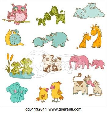 Baby animals playing clipart svg library library Baby Animal Clip Art - Royalty Free - GoGraph | Baby shower | Baby ... svg library library