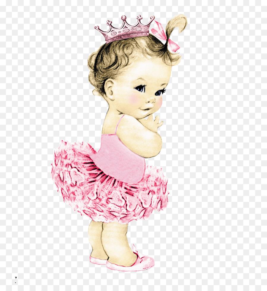 Baby ballerina clipart