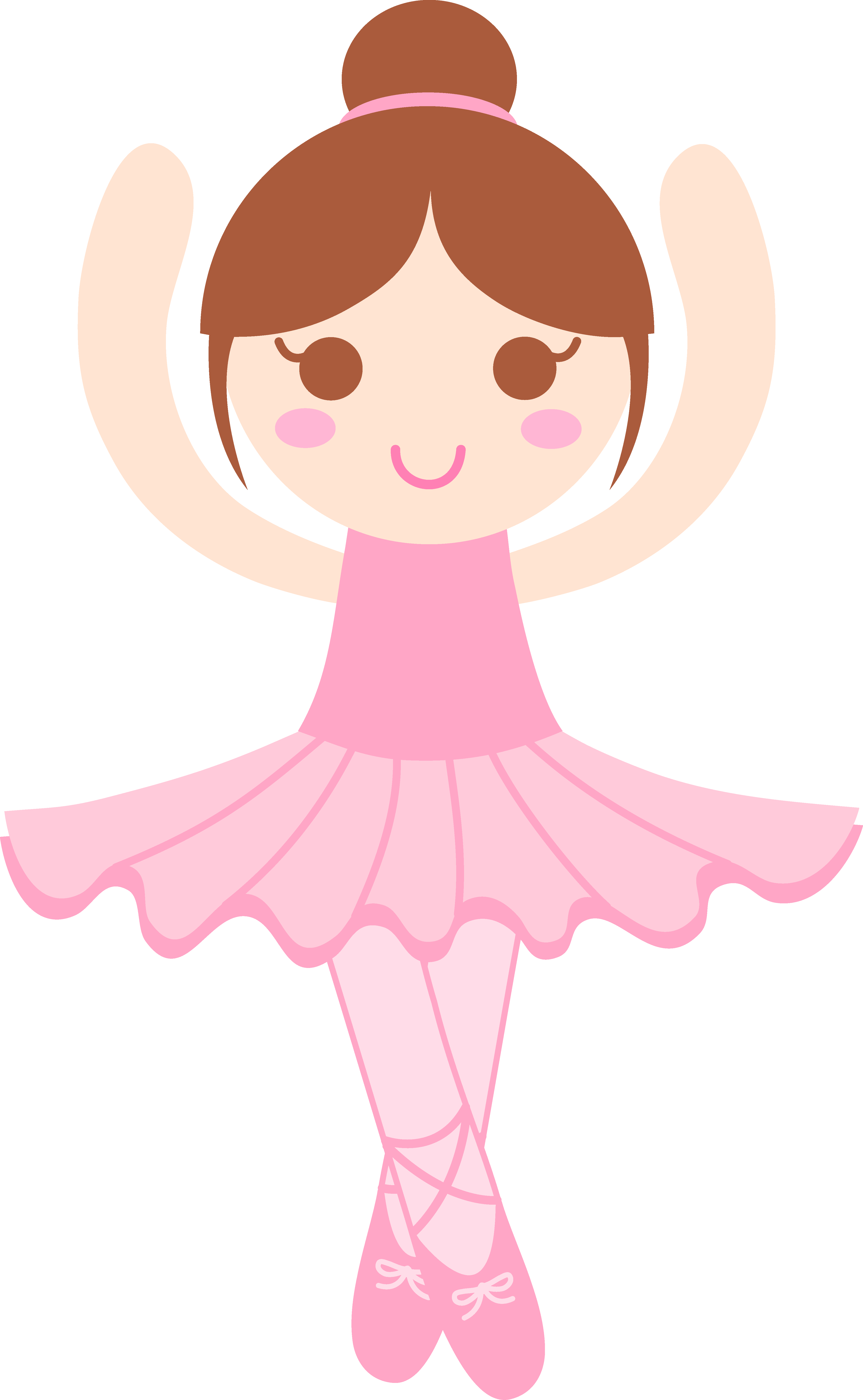 Ballerina with brown hair clipart jpg library download Free Toddler Ballet Cliparts, Download Free Clip Art, Free Clip Art ... jpg library download