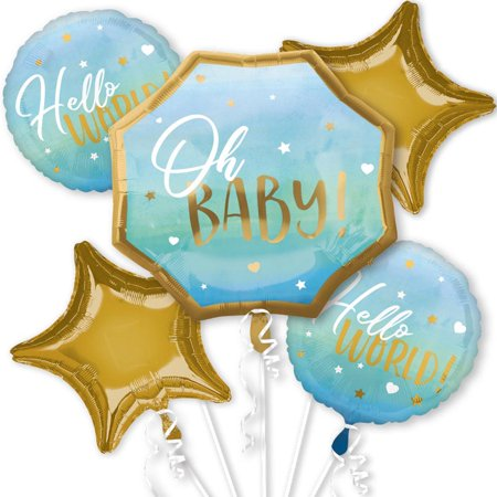 Baby ballons with string in green clipart vector transparent download Baby Shower Boy Balloon Bouquet vector transparent download