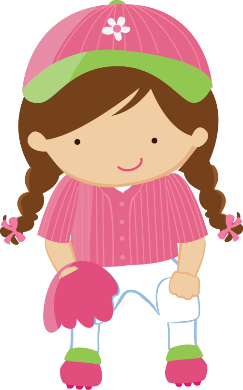 Baseball girl clipart jpg freeuse library Minus - Say Hello! | imprimibles | Pinterest | Clip art ... jpg freeuse library