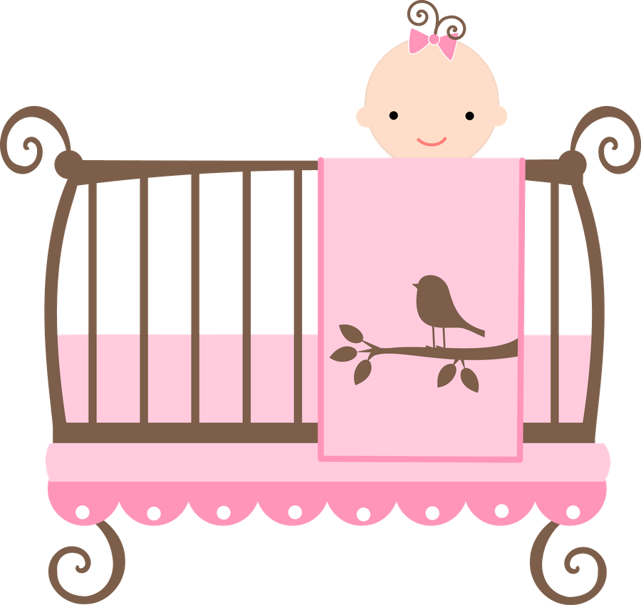 Baby book clipart girl png black and white download Bebê (Menino e Menina) 3 - crib.png - Minus   BABY SHOWER ... png black and white download