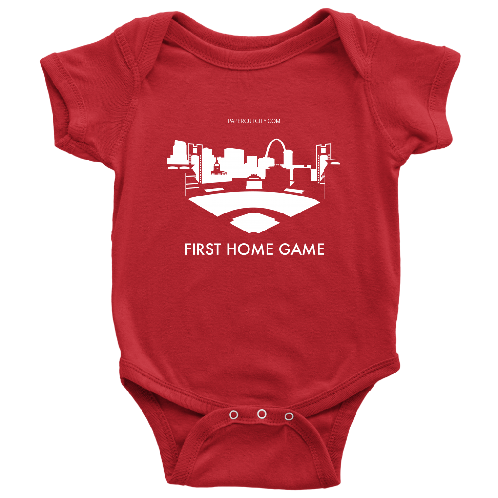 Baby baseball onesie clipart png transparent St. Lous Baseball Onesie – papercutcity png transparent