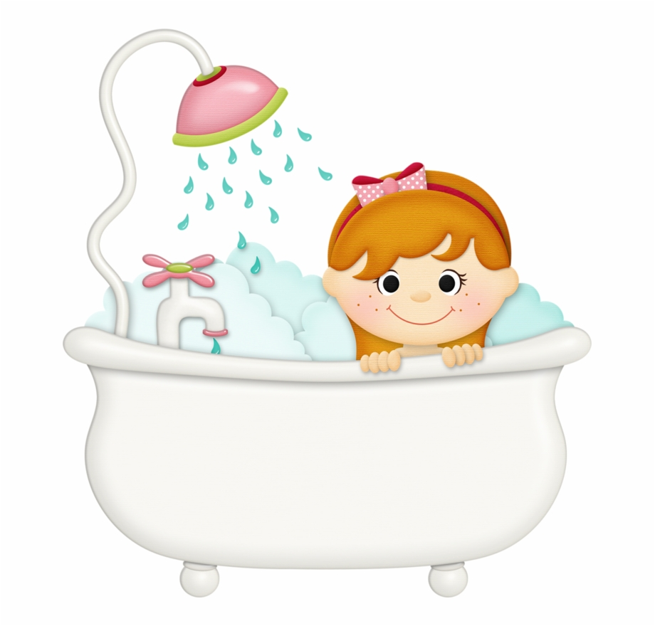 Shower tub clipart vector library library Bath Drawing Baby Tub - Bath Time Clipart, Transparent Png Download ... vector library library