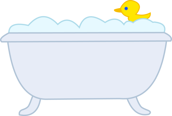 Baby bath tub clipart clip art royalty free library Bubble Bath With Rubber Ducky | Kid Clipart | Shower tub, Bathtub ... clip art royalty free library