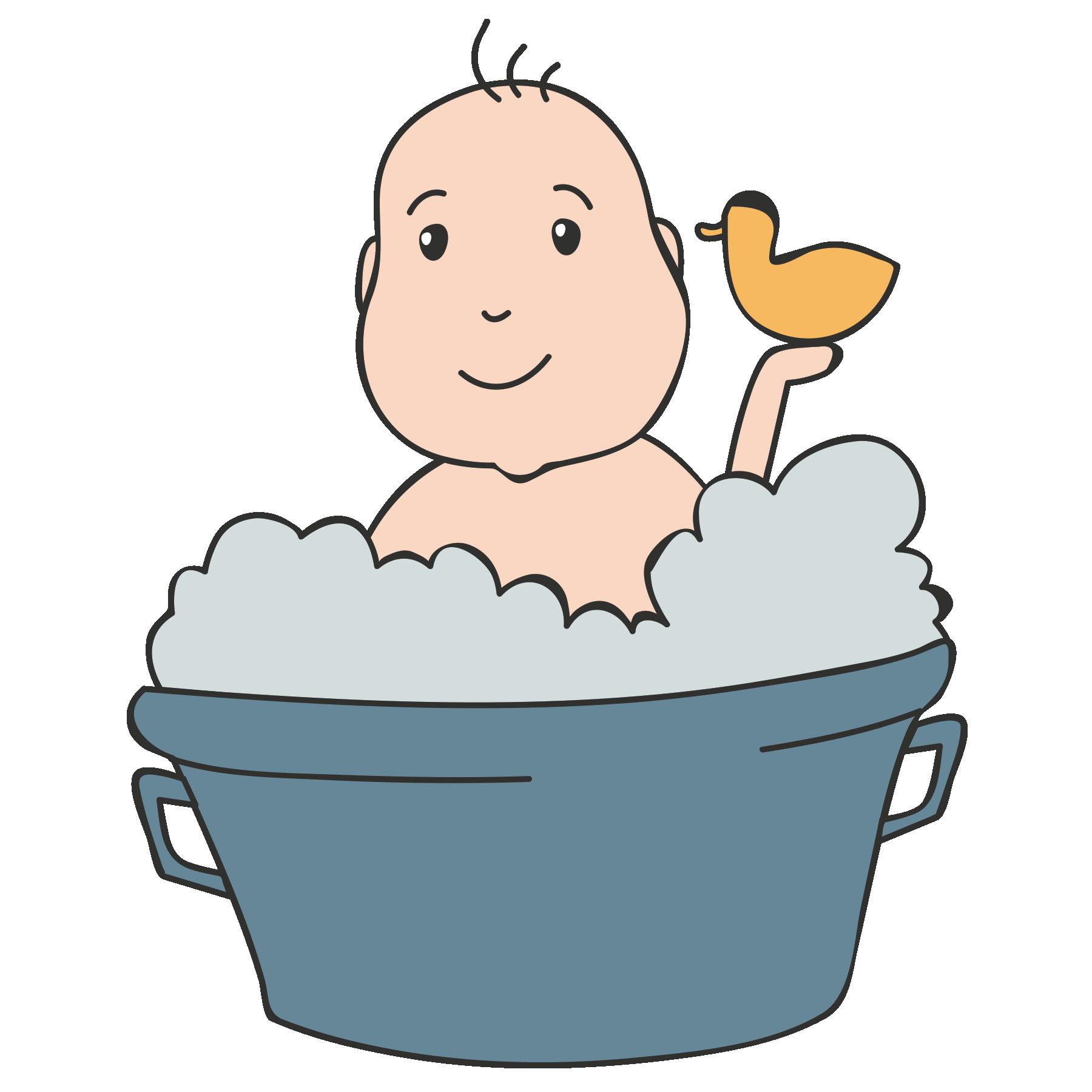 Baby bath tub clipart clip art library stock Baby in Bath Tub Vector clip art library stock