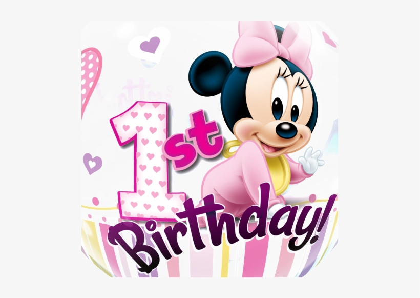 Birthday girl minnie clipart graphic royalty free stock Free Baby Minnie Mouse 1st Birthday Clipart - Minnie Mouse 1st ... graphic royalty free stock