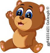 Bear baby clipart banner transparent stock Baby Bear Clip Art - Royalty Free - GoGraph banner transparent stock