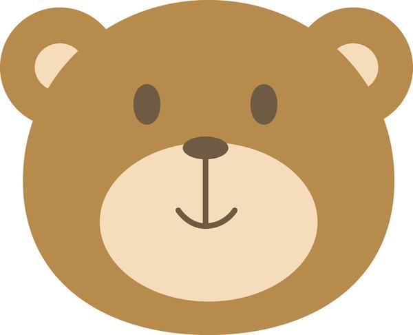 Baby bear clipart face graphic freeuse library Cute Kawaii Baby Animal Face Bear Vinyl Decal Sticker Shinobi Clever ... graphic freeuse library