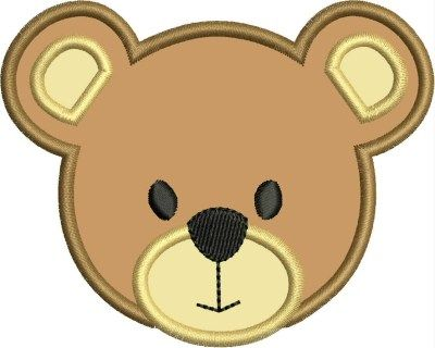 Baby bear clipart face image Bear Face teddy bear machine embroidery applique designs | Legacy ... image