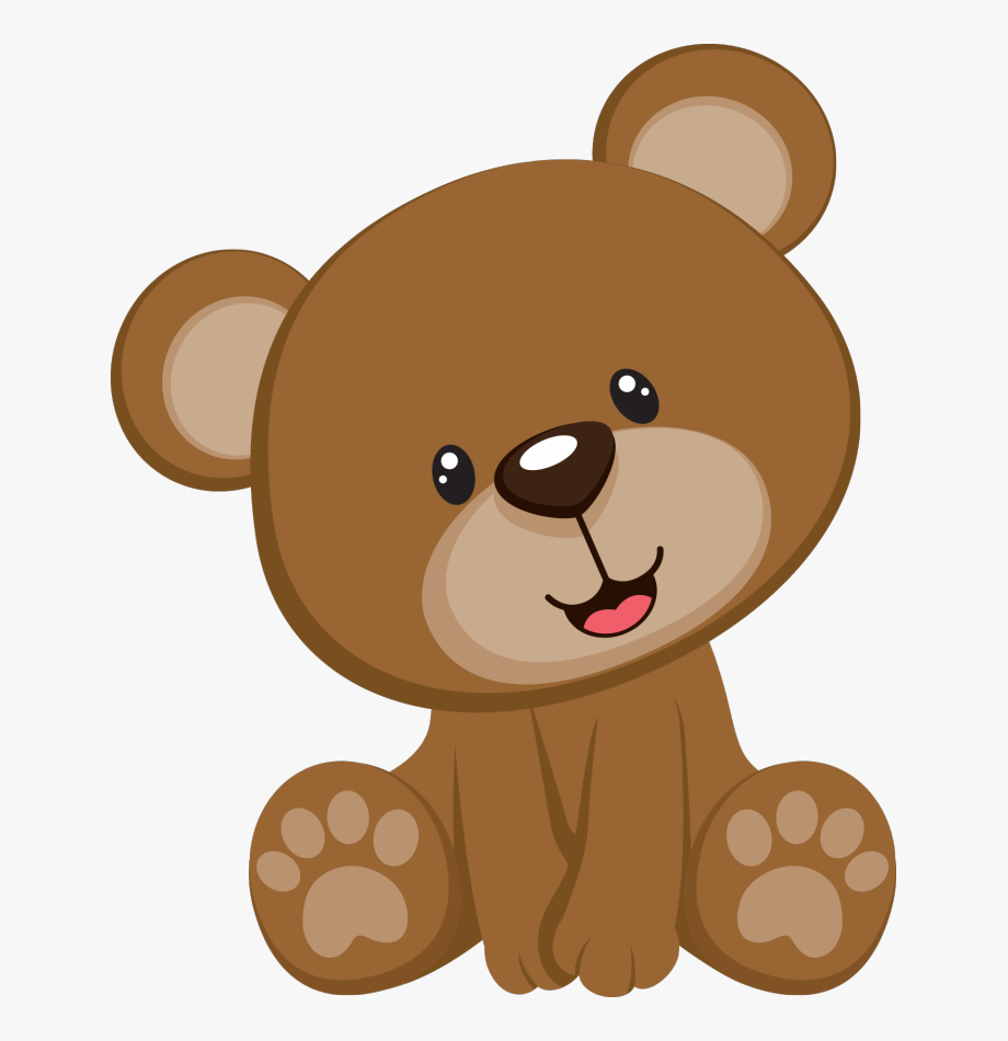 Teddy bear baby shower clipart