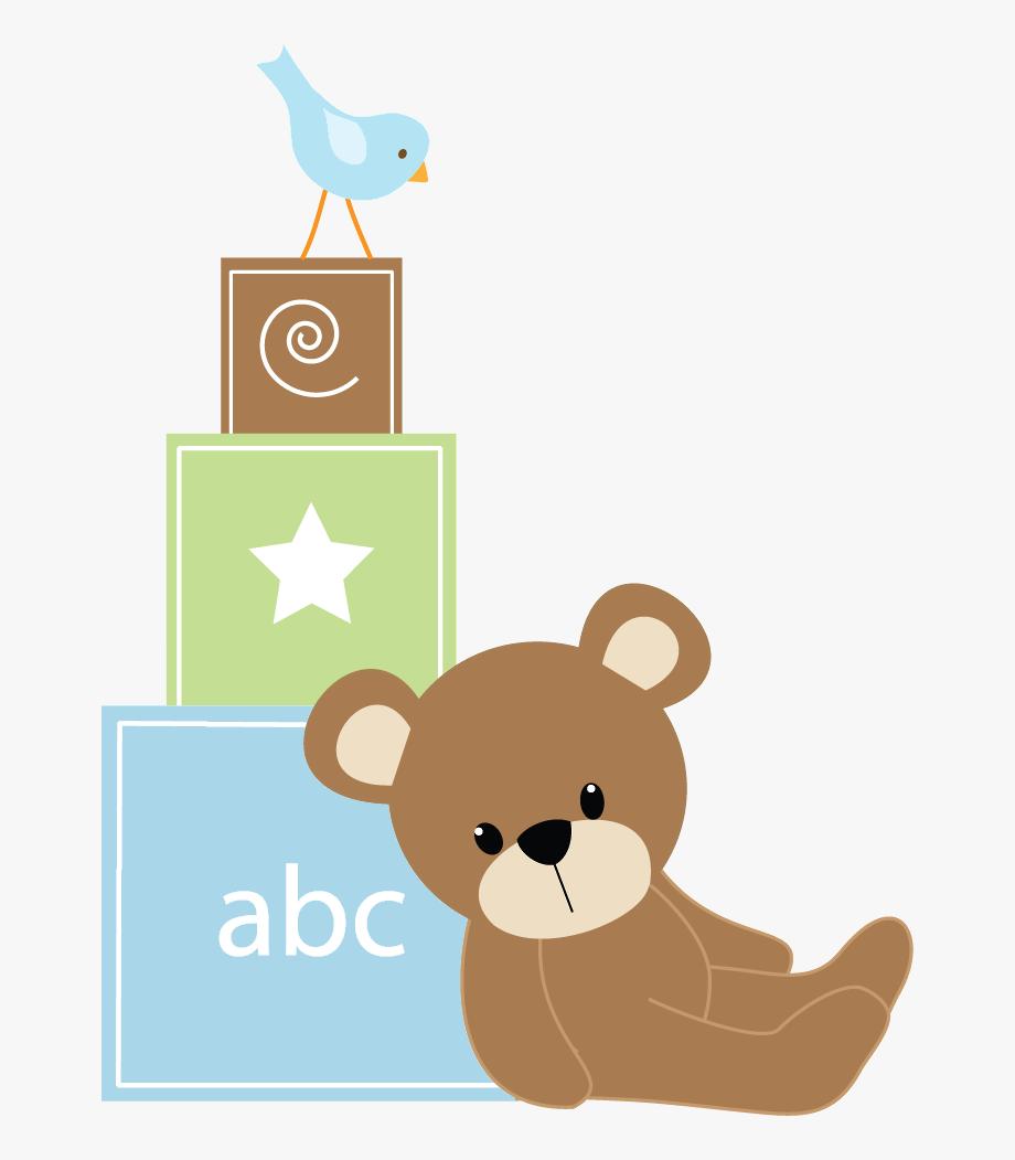 Baby bear clipart onsie svg freeuse library Beb Menino E Menina Blue Blocks Png - Teddy Bear Baby Shower Png ... svg freeuse library