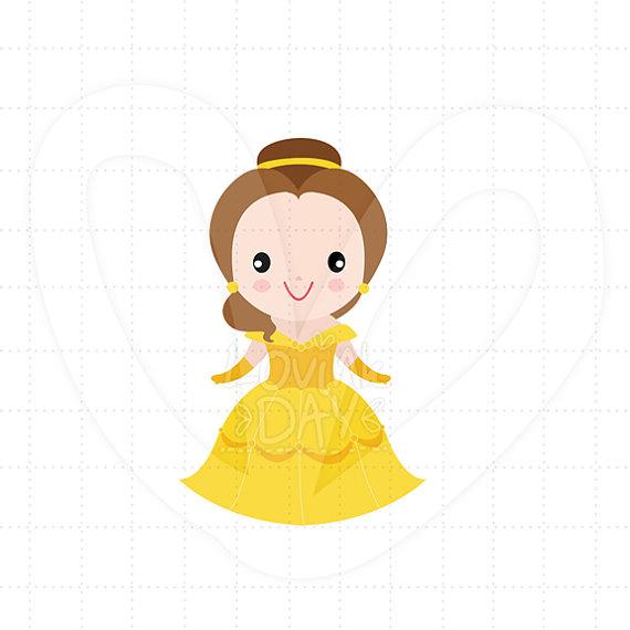 Baby belle clipart jpg black and white Princess Belle Clip Art Single Set SKU : A51 jpg black and white
