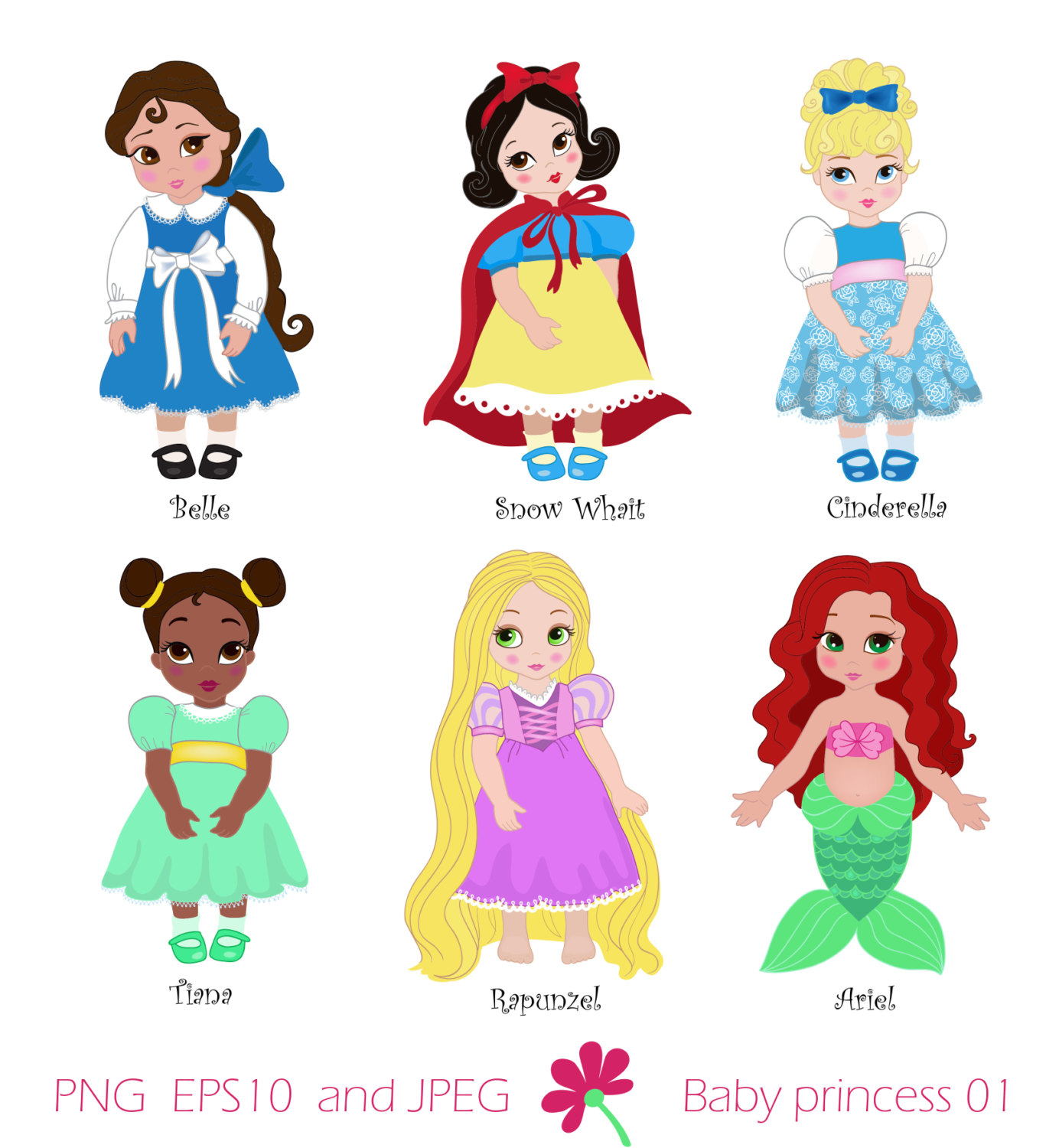 Baby belle clipart clip art library library Princess Snow Baby Clipart - Clipart Kid clip art library library