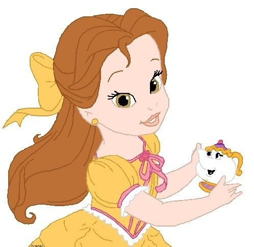 Baby belle clipart vector royalty free download Disney Babies Clip Art | Princess Belle ~ Popular Cartoon | disney ... vector royalty free download