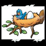 Baby bird eggs clipart clip free stock Happy Baby Bird, in a nest with an egg clip free stock